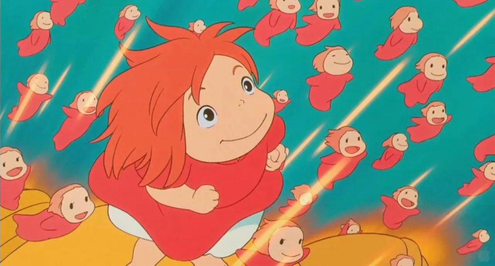 子供向けアニメの崖の上のポニョ